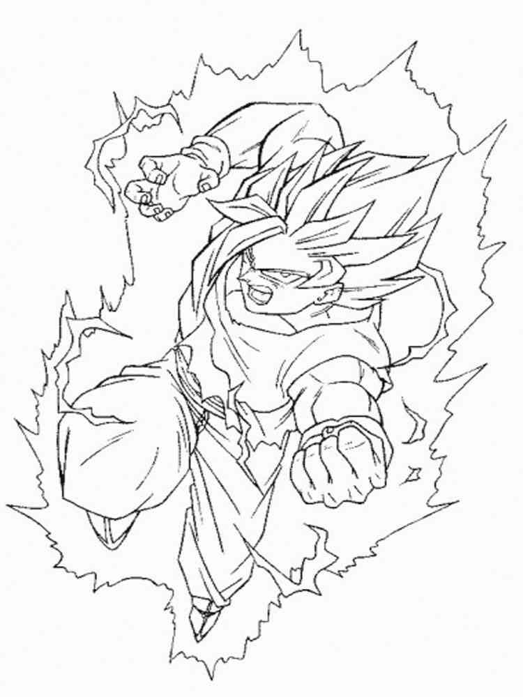 Goku coloring pages Free Printable