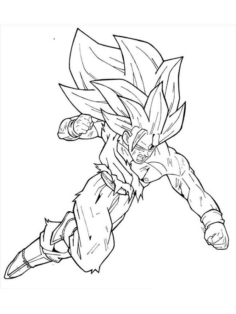 Goku coloring pages. Free Printable Goku coloring pages.