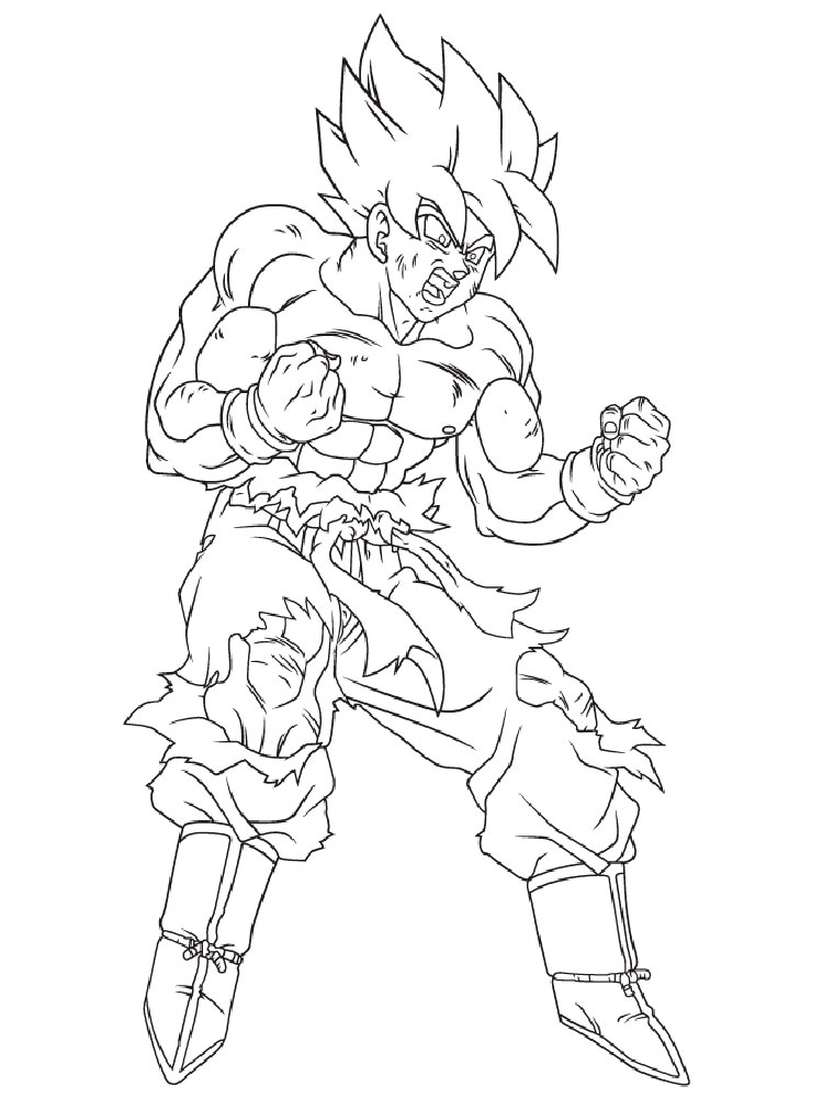 Goku Coloring Pages Free Printable Goku Coloring Pages