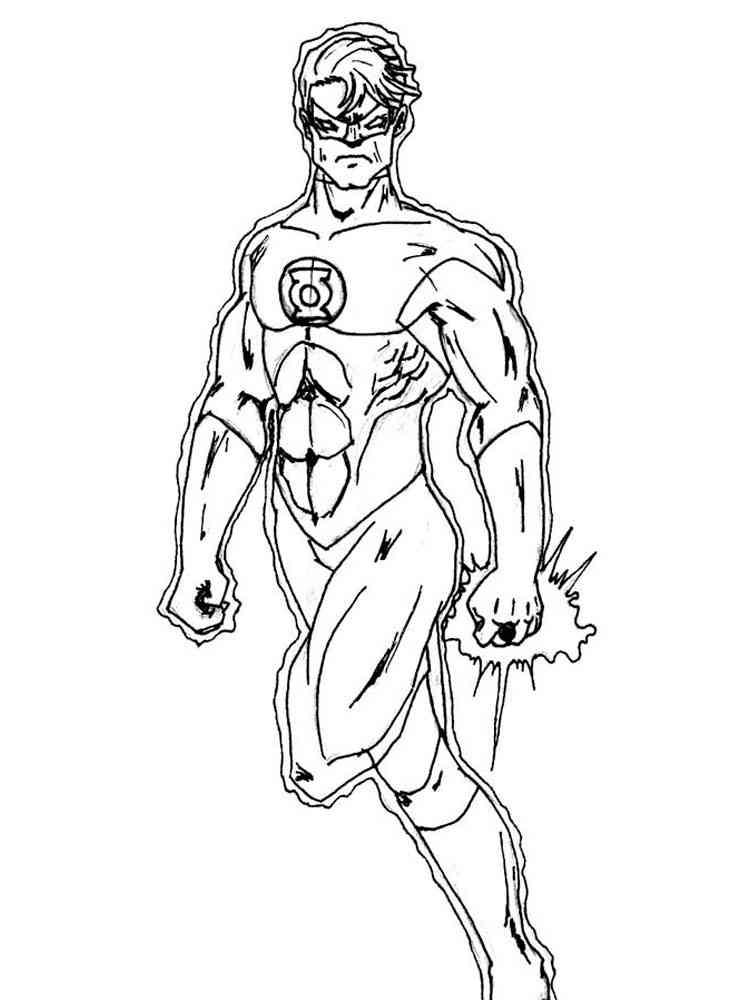 Green Lantern coloring pages. Free Printable Green Lantern ...