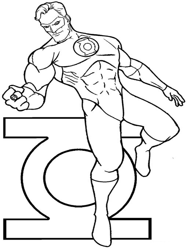 green lantern coloring pages for boys 10 - Green Lantern Logo Coloring Pages