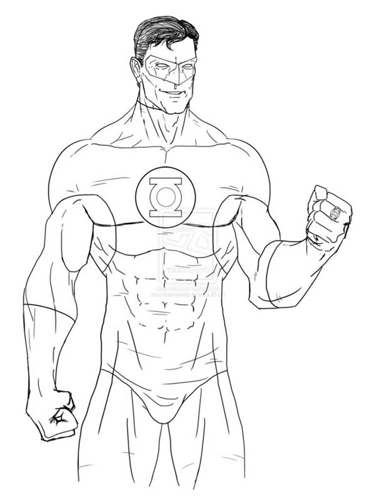 Green Lantern coloring pages Free