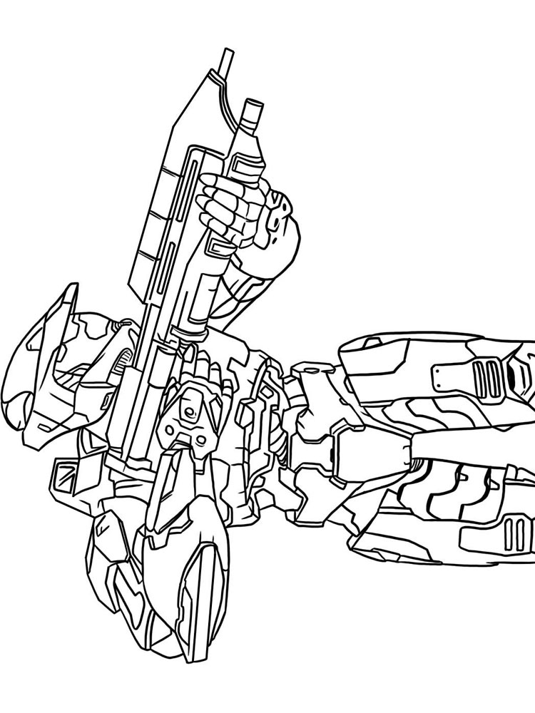 Halo Coloring Pages Free Printable Halo Coloring Pages