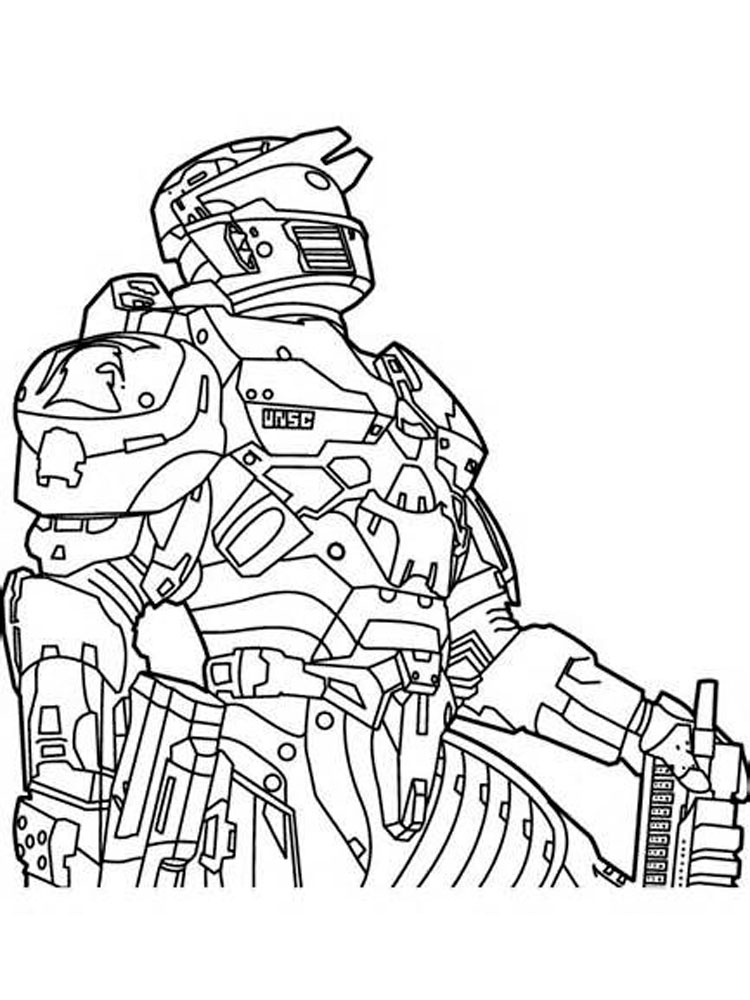 Halo coloring pages free printable halo coloring pages for Free printable halo coloring pages