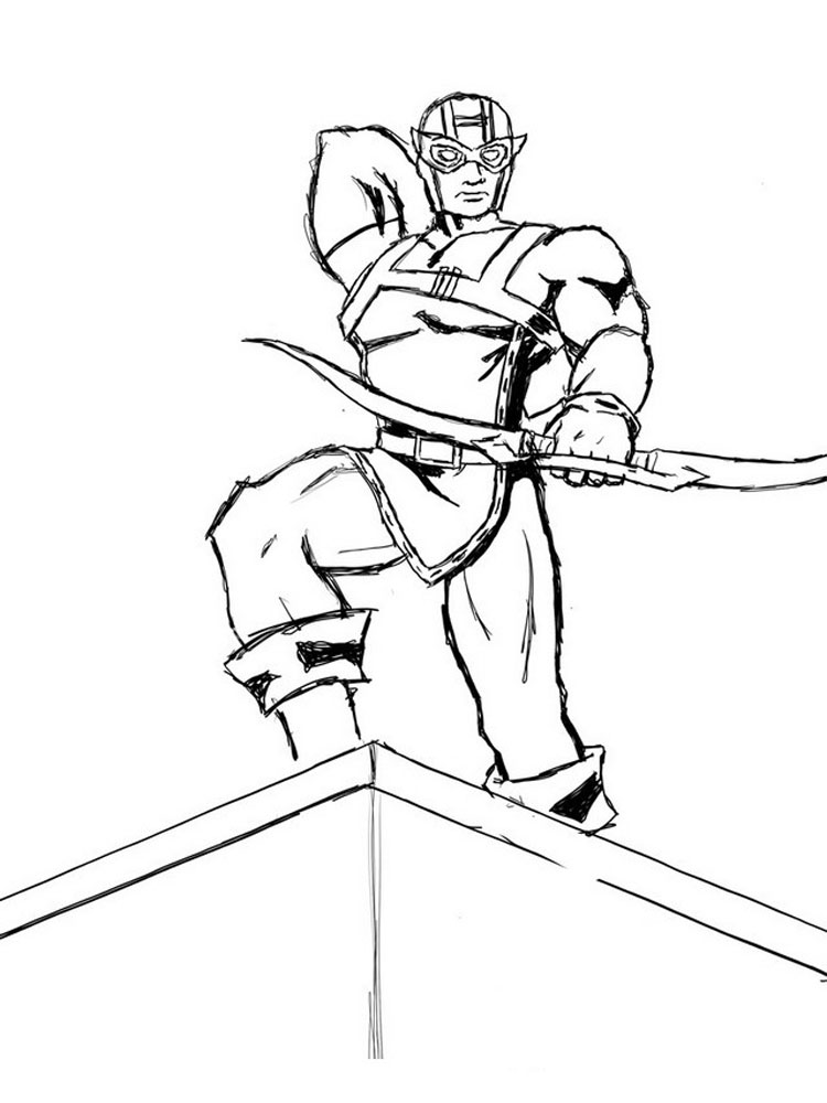 Hawkeye Coloring Pages Coloring Pages