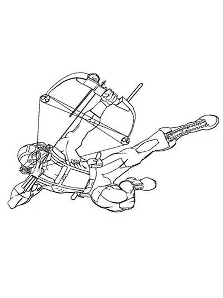 Hawkeye coloring pages. Free Printable Hawkeye coloring pages.