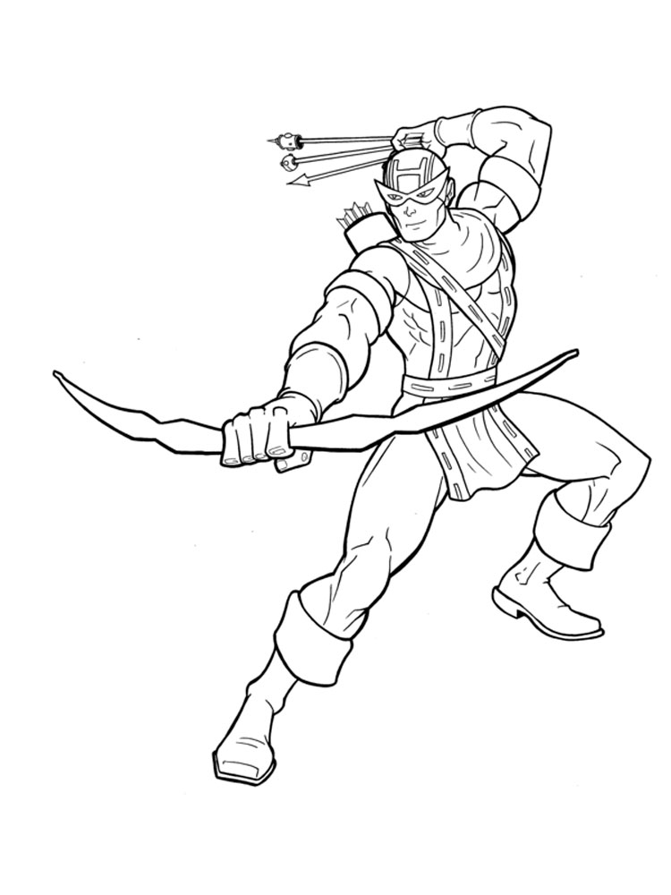 Hawkeye Coloring Pages Free Printable Hawkeye Coloring Pages