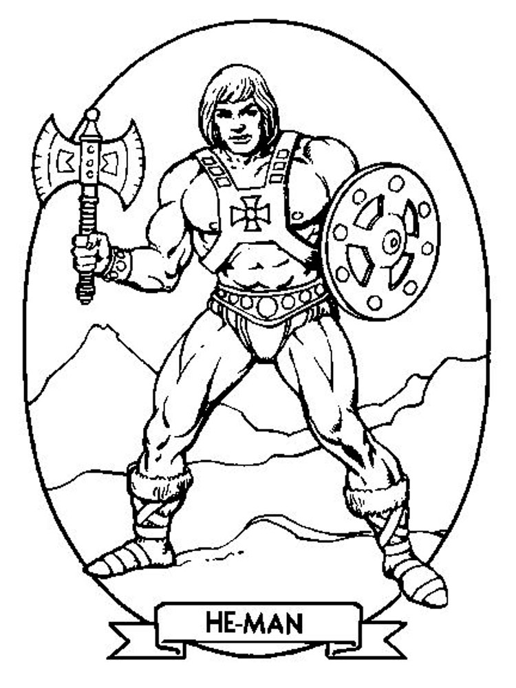 He man coloring pages free printable he man coloring pages for Man coloring page