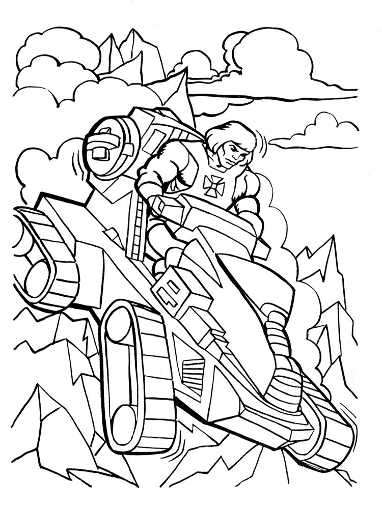He Man coloring pages Free Printable