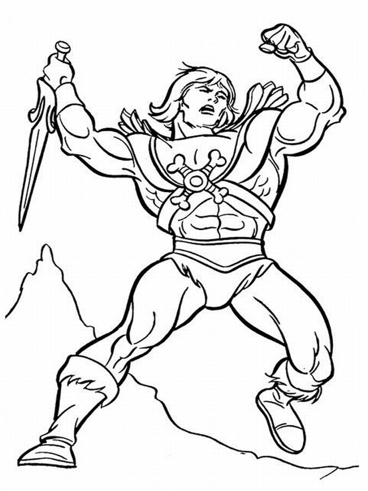 He man coloring pages free printable he man coloring pages for Coloring pages man