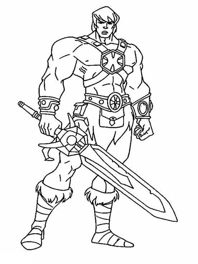 He Man Coloring Pages. Free Printable He Man Coloring Pages