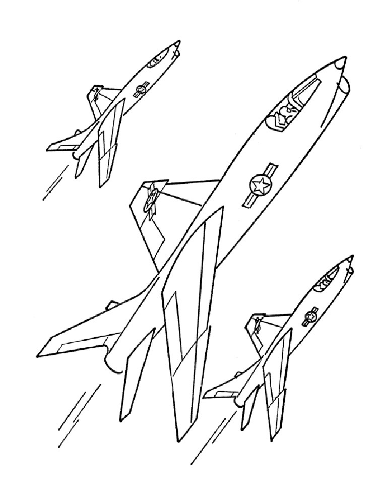 Jet coloring pages Free Printable