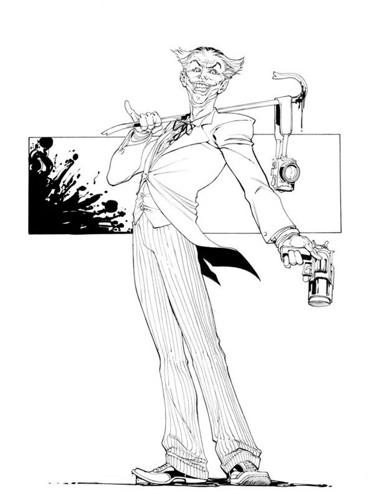 Joker Coloring Pages Free Printable Joker Coloring Pages