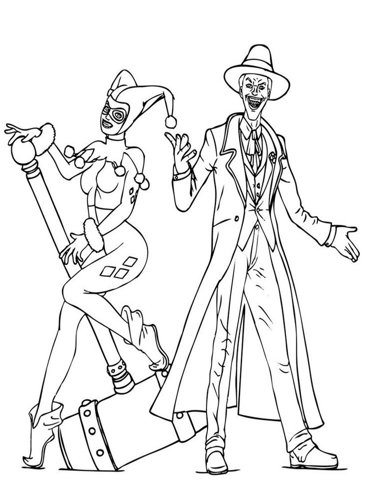 Joker coloring pages Free Printable
