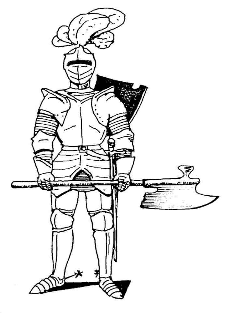 Knights coloring pages. Download and print knights ...