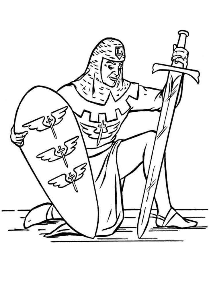 knights coloring pages 13 - Castle Knights Coloring Pages
