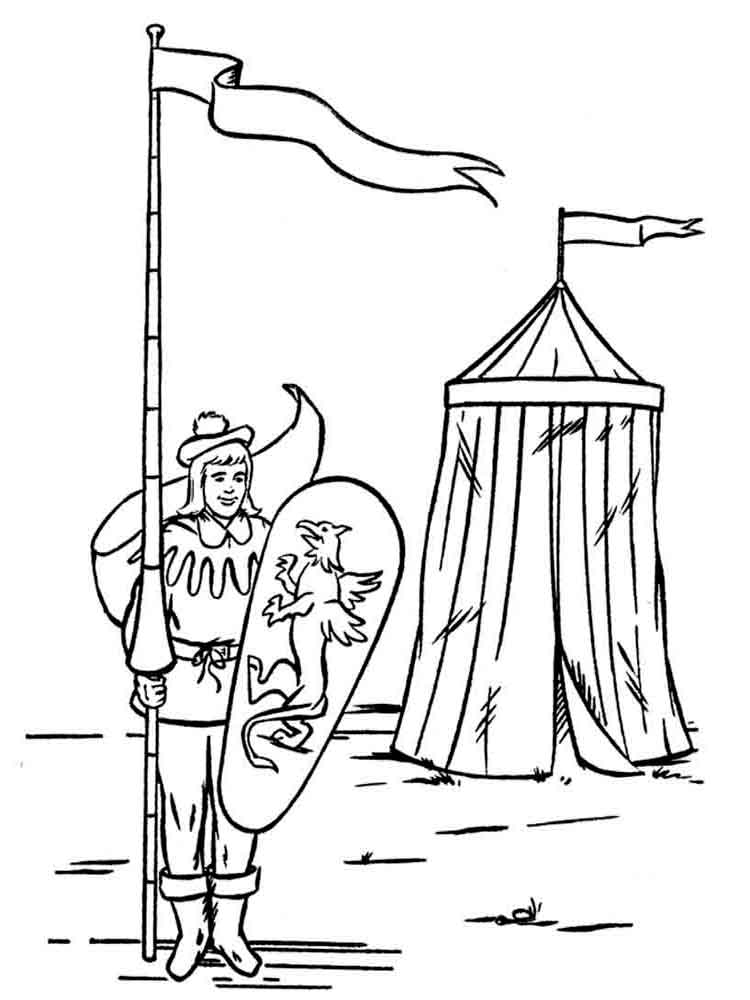 fantasy coloring pages eagles knights - photo#41