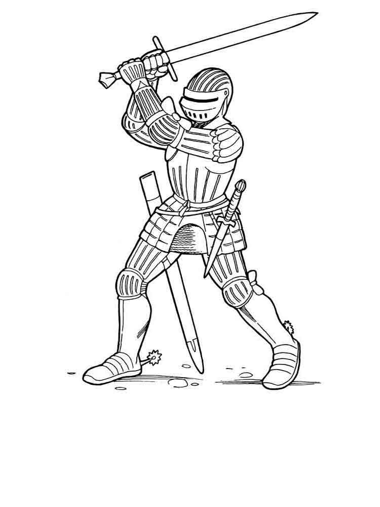 Knights coloring pages Download