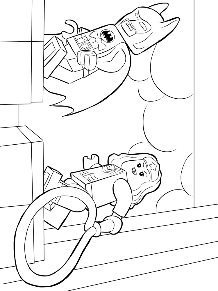 Lego Batman Coloring Pages Free Printable Lego Batman