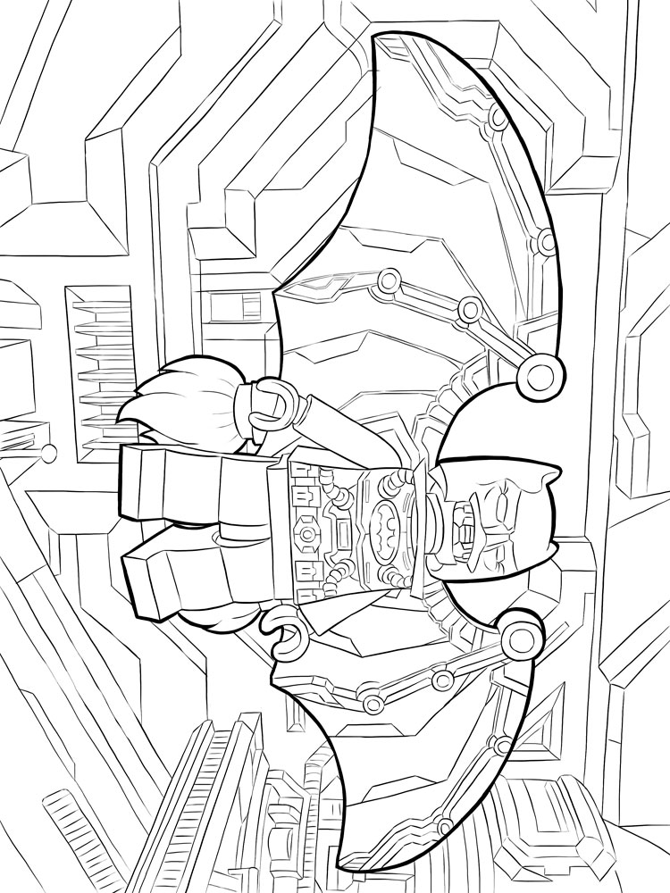 Lego Batman Coloring Pages For Boys 2