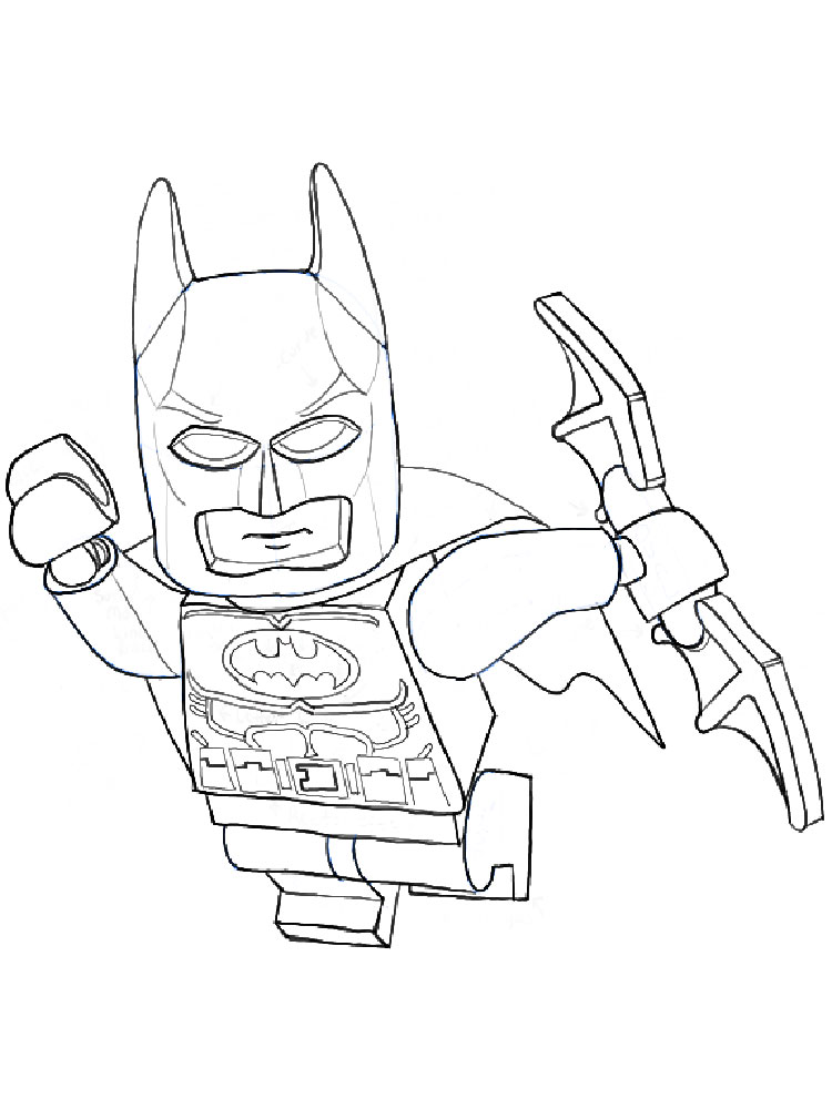 It's just a photo of Challenger Lego Batman Coloring Book