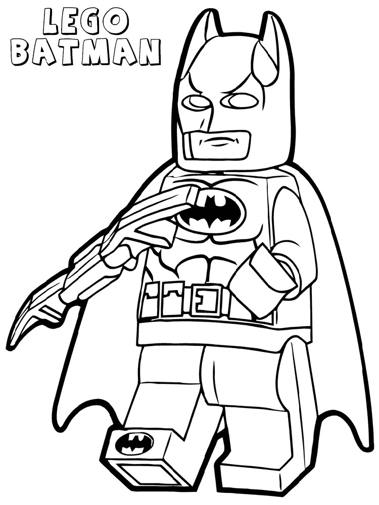 Lego Batman Coloring Pages For Boys 6