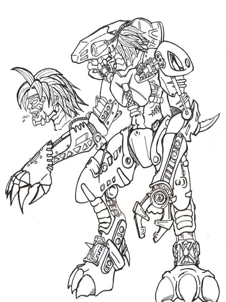 lego bionicle coloring pages for boys 11 - Bionicle Coloring Pages Printable