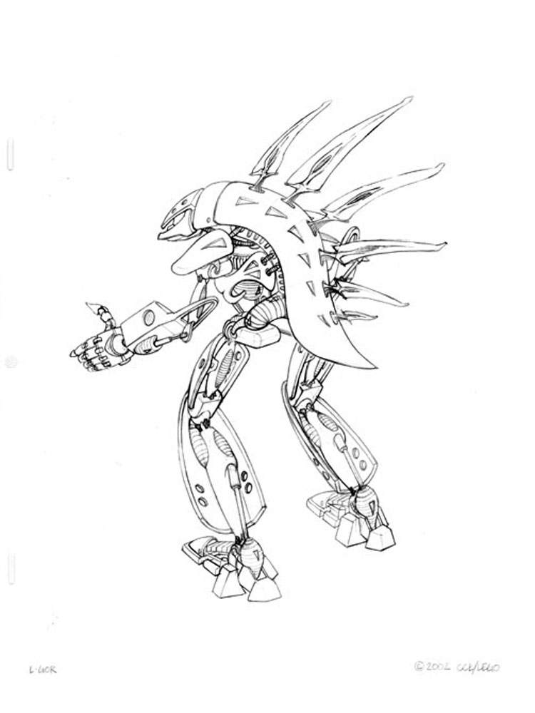 Printable Bionicle Coloring Pages - Bltidm
