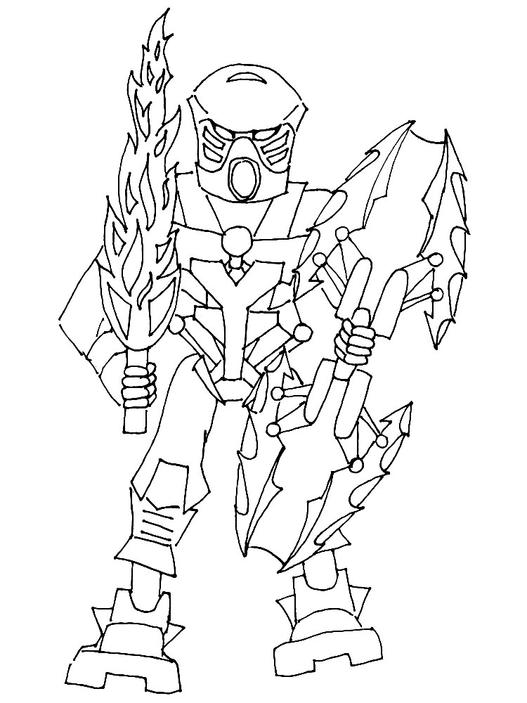 Lego bionicle coloring pages free printable lego bionicle for Lego color page