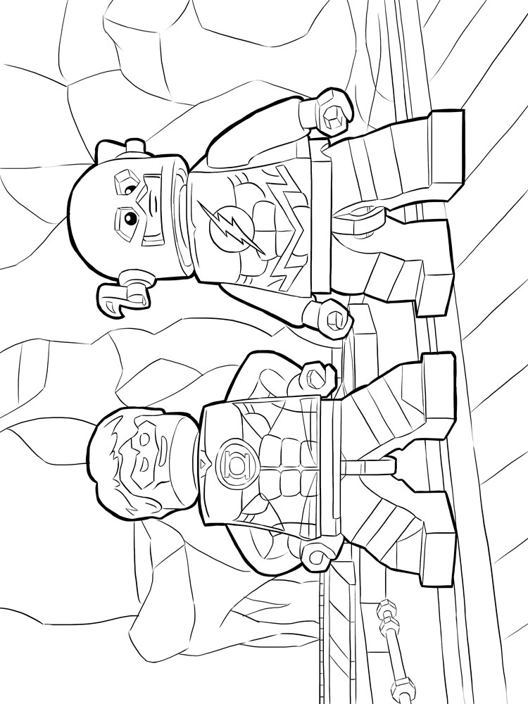 Lego Flash Coloring Pages For Boys 1