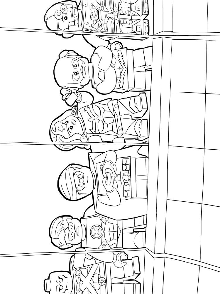 Lego Flash coloring pages Free