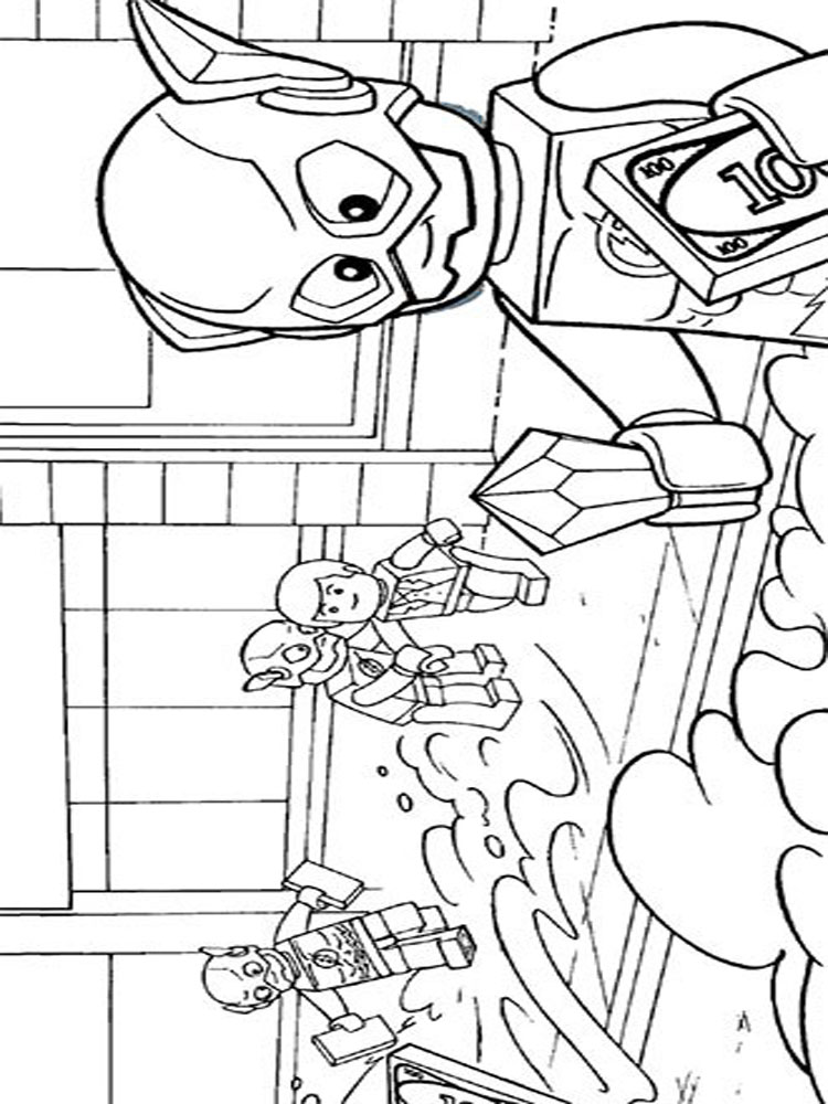 Lego Flash coloring pages. Free Printable Lego Flash coloring pages.