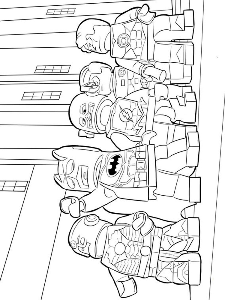 Lego Marvel coloring pages Free