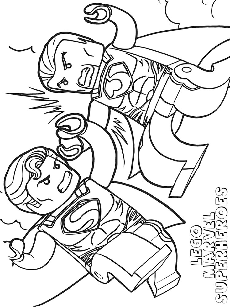 Lego Marvel coloring pages Free Printable Lego Marvel coloring pages