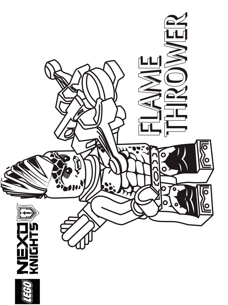 lego nexo knight coloring pages for boys 10 - Knight Coloring Pages