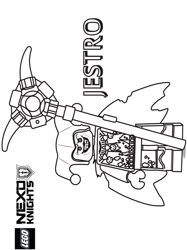 Lego Nexo Knight coloring pages. Free Printable Lego Nexo ...