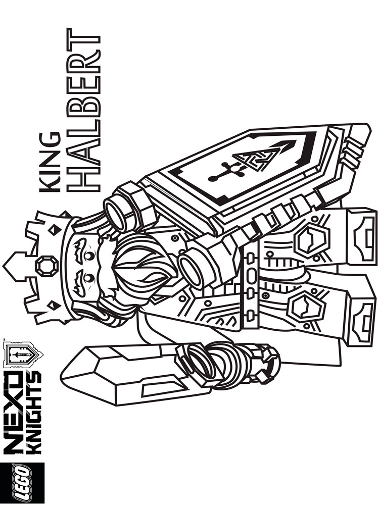 Lego Nexo Knight coloring pages. Free Printable Lego Nexo Knight ...