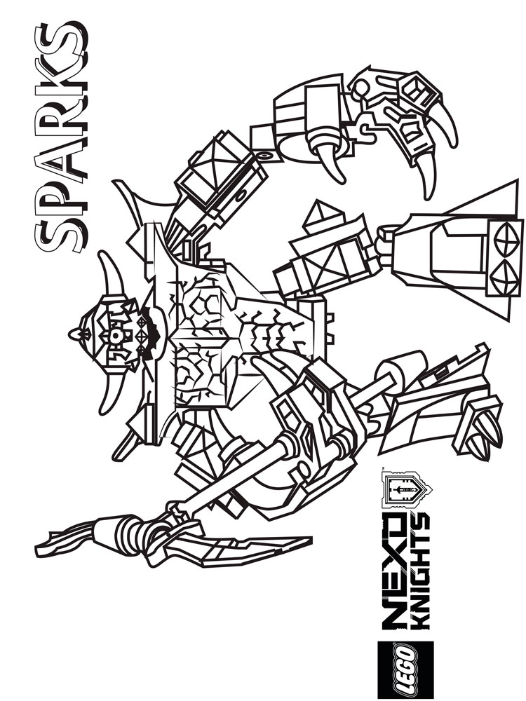 Lego Nexo Knight Coloring Pages Free Printable Lego Nexo Knight