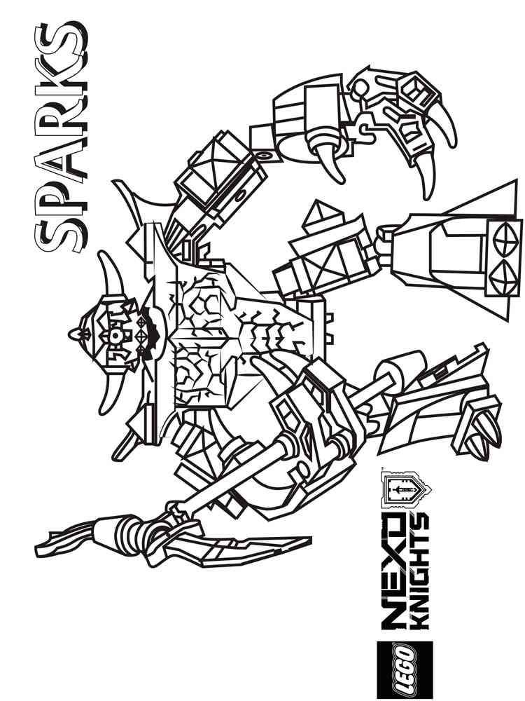Lego Nexo Knight Coloring Pages. Free Printable Lego Nexo