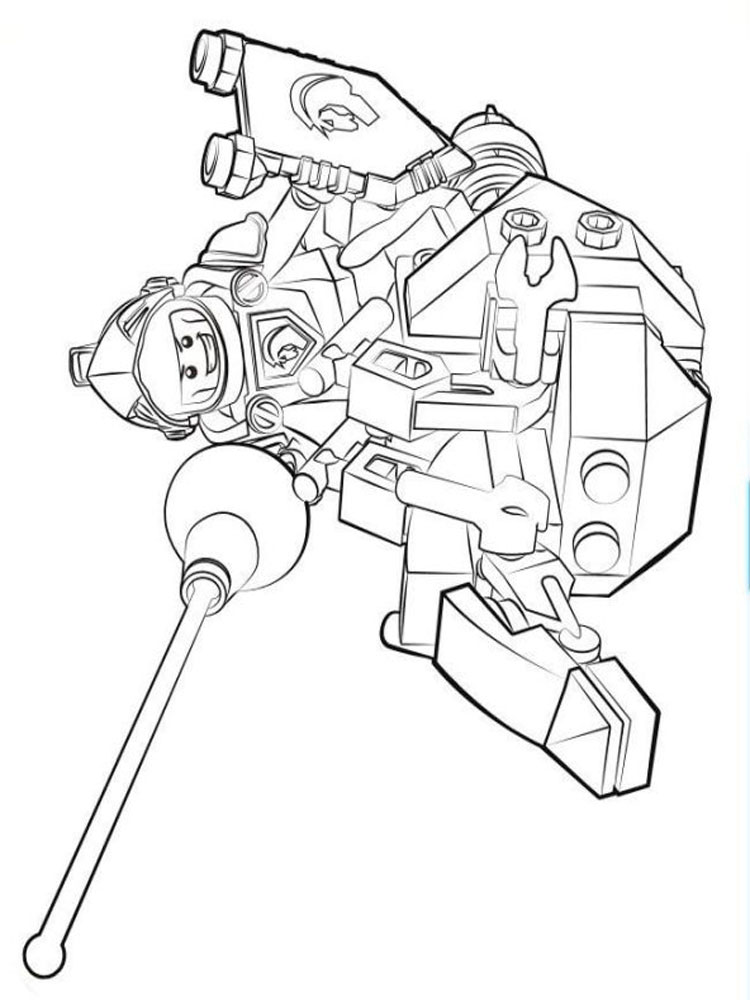 Lego Nexo Knight Coloring Pages For Boys 27