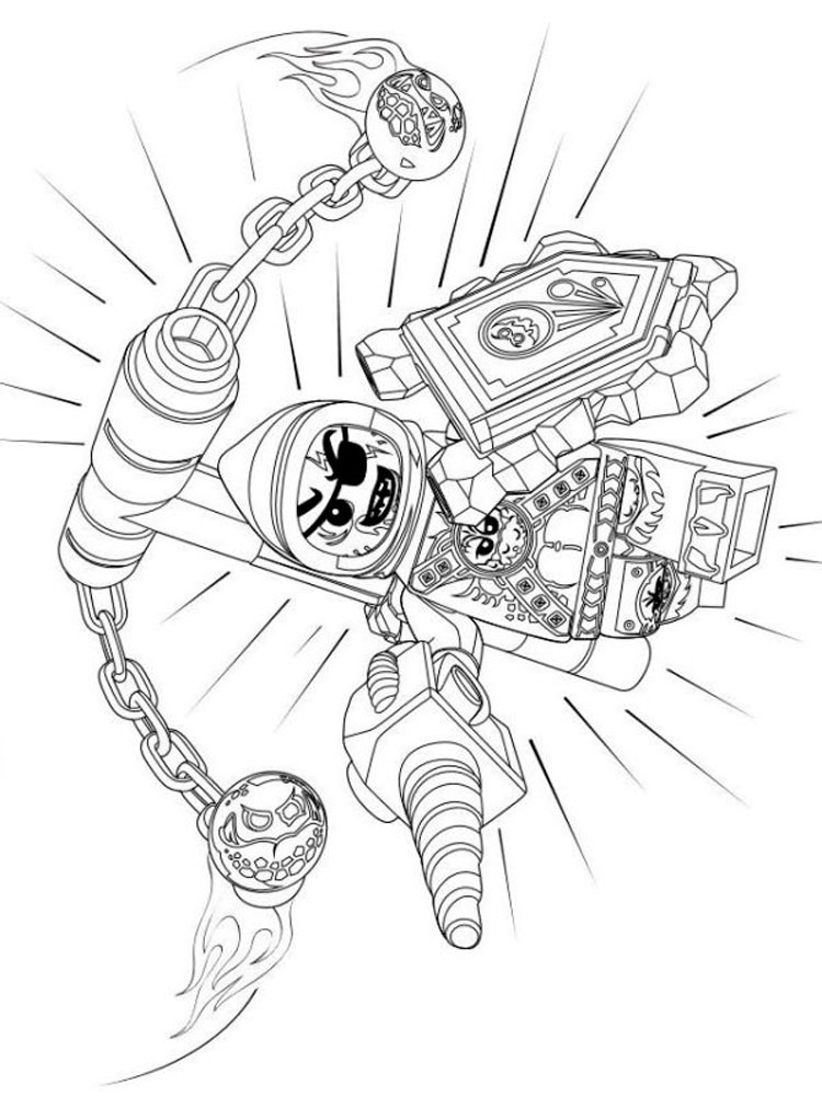 Lego Nexo Knight coloring pages