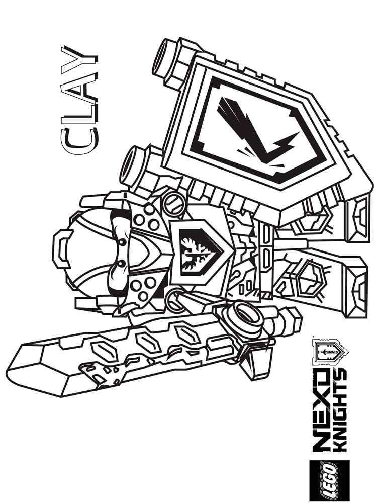 Lego Nexo Knight coloring pages. Free Printable Lego Nexo Knight ...
