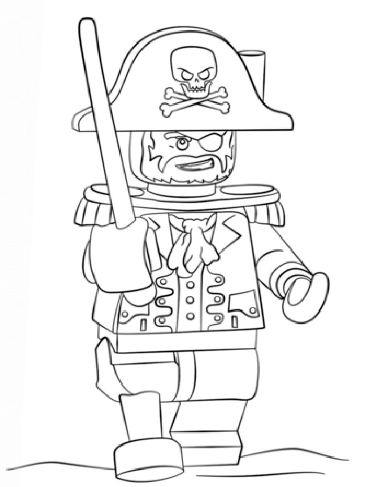 lego pirates coloring pages for boys 10 - Lego Green Lantern Coloring Pages