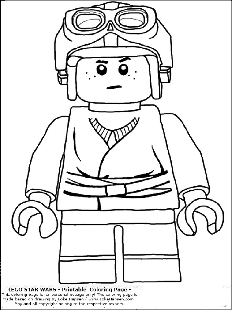 Lego Star Wars coloring pages. Free Printable Lego Star Wars ...