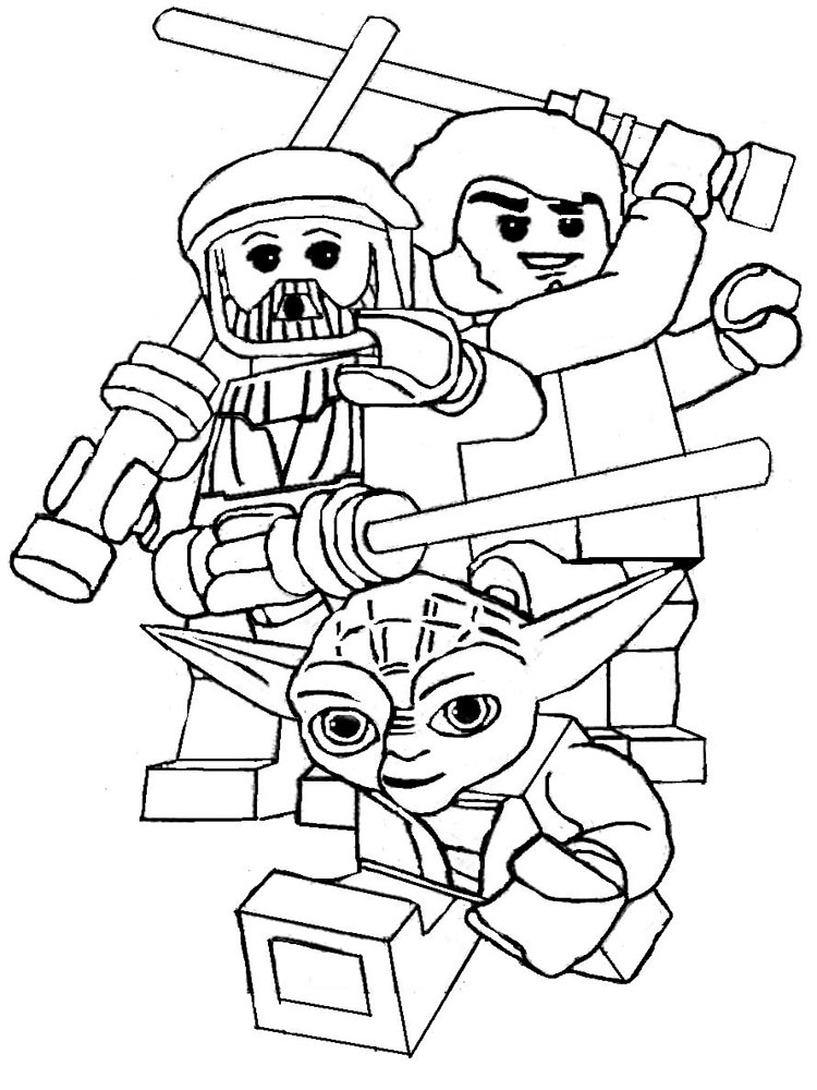 Lego Star Wars coloring pages. Free Printable Lego Star ...