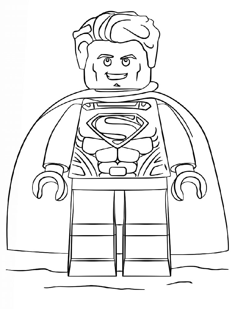 Lego Superman And Batman In Space Coloring Page Printable