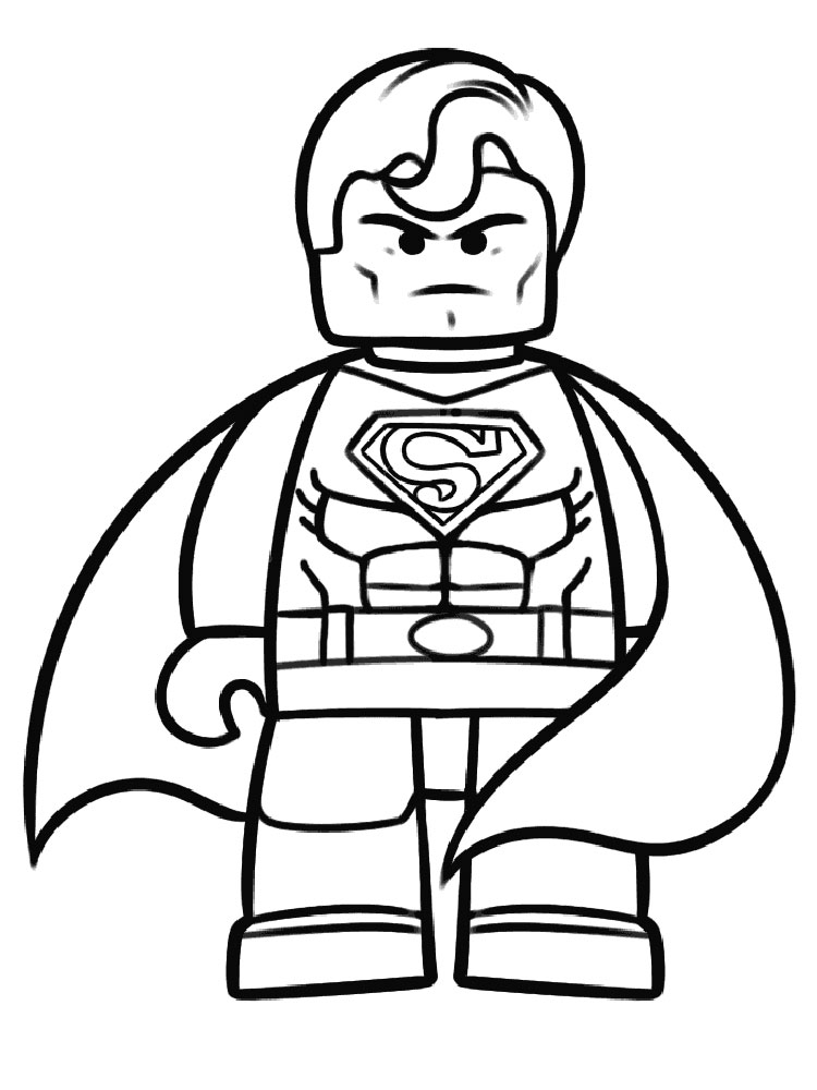 Lego superman coloring pages free printable ant man for Free printable lego coloring pages for kids