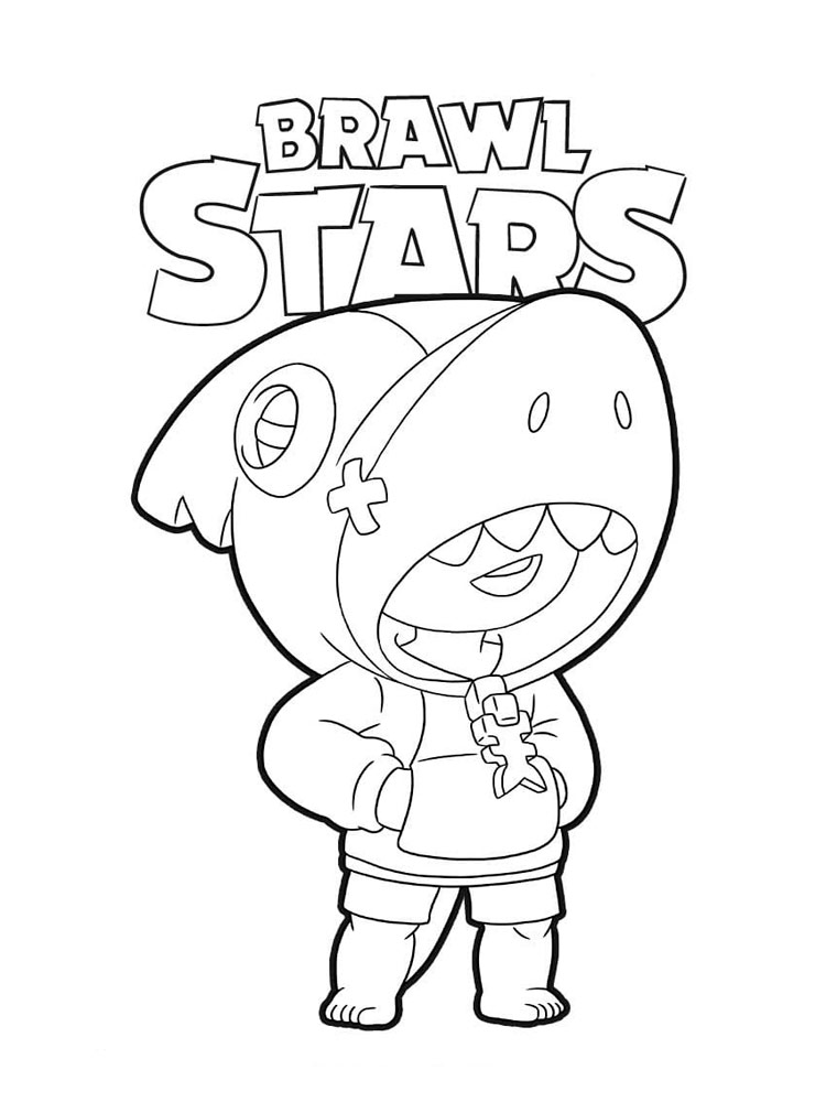 Free Brawl Stars Leon Coloring Pages Download And Print