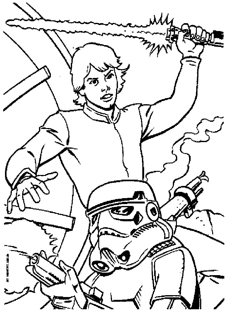 Luke Skywalker coloring pages. Free Printable Luke Skywalker ...