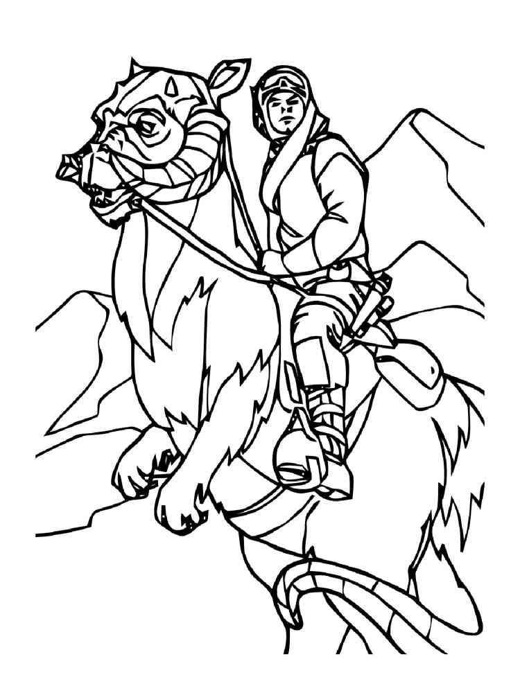 Luke Skywalker coloring pages. Free Printable Luke Skywalker ...